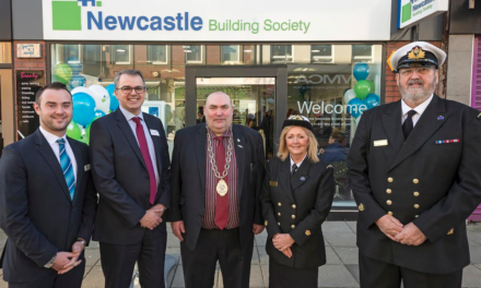 Customers come aboard to celebrate reopening of Newcastle Building Society