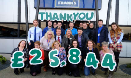 Frank's the Flooring Store hands over more than £25,000 to Macmillan Cancer Support