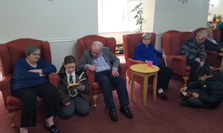 Pupils treat Thornaby care home residents to storytelling