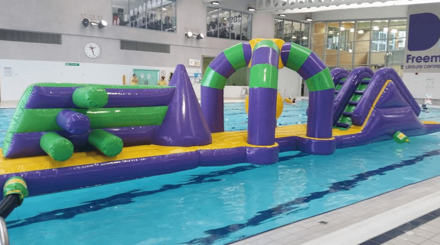 Chance to try new swimming pool inflatable for free north east connected for Swimming pools in the north east