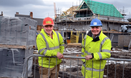 Clark Homes top off first phase of affordable housing scheme