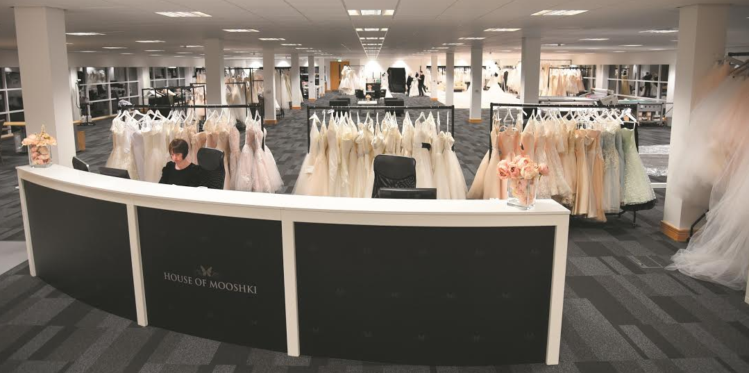 House of Mooshki set up bridal studio in Seaham office