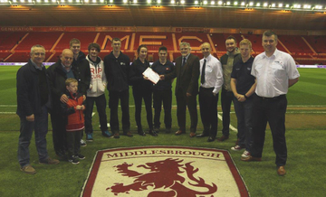 Middlesbrough Football Club celebrate achievements of TTE trainees