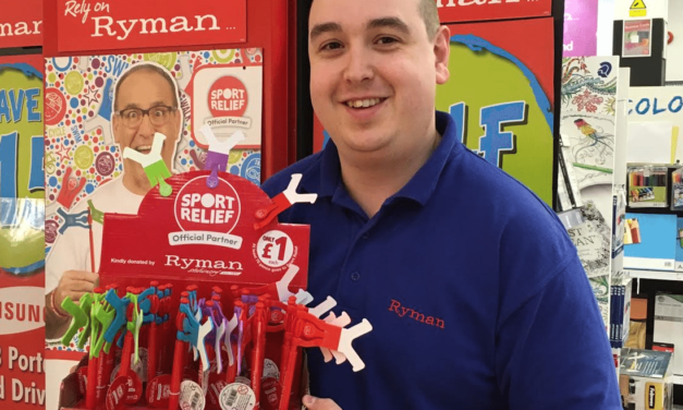Ryman Stationery raises funds for Sport Relief
