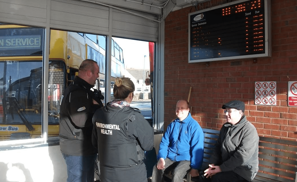 Action on smoking in bus stations