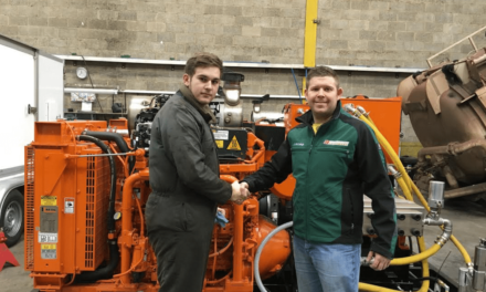Former SSI apprentice has found employment with local business Doornbos Equipment thanks to Task Force funding