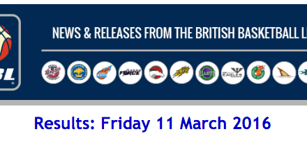 BBL – Results: Friday 11 March 2016