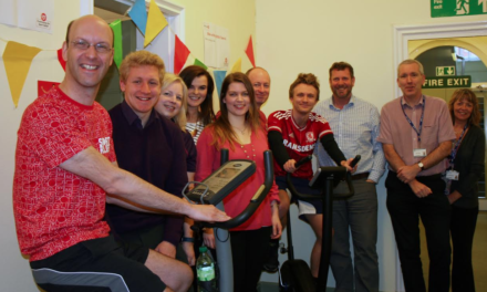 County Council staff goes for Sports Relief bike-a-thon