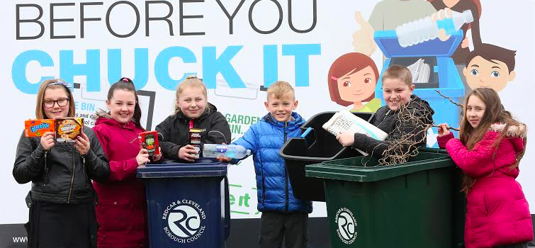 Lakes Primary School pupils help launch 'Check it before you chuck it' recycling campaign