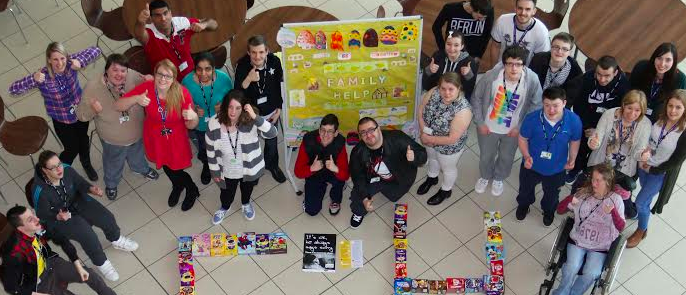 Learning disability students collect easter eggs for family refuge