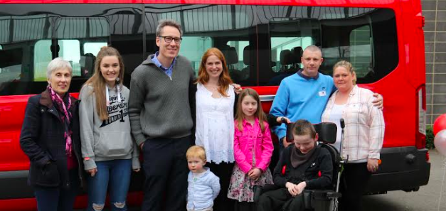 Family Donate Minibus To School In Memory Of Their Daughter