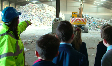 Red House youngsters get the green  message thanks to J&B Recycling
