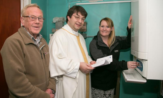 Cramlington Churchgoers' Prayers Answered as Banks Group Grant helps to pay for new boiler