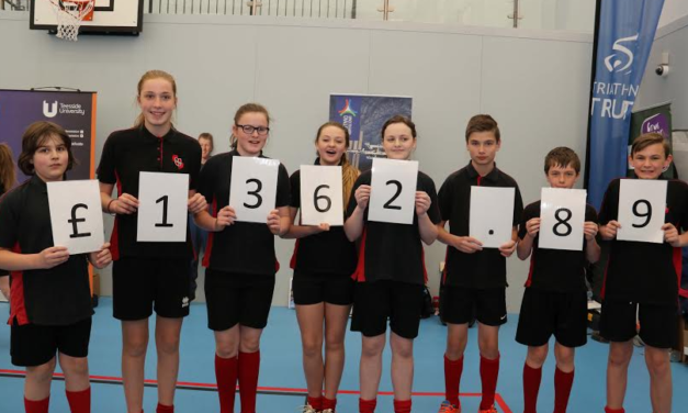 Sporty students raise cash for charity