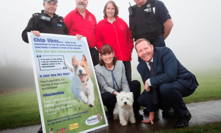 Crufts winning duo back microchipping campaign