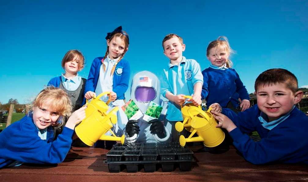 """Astronaut brings """"space seeds"""" to County Durham kids"""