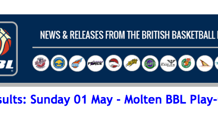 BBL – Results: Sunday 01 May – Molten BBL Play-Offs