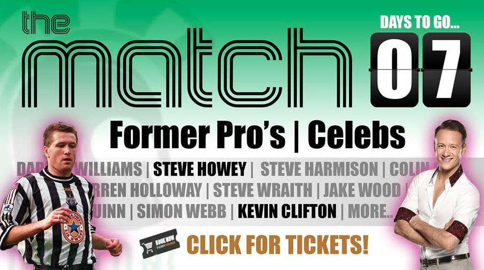 Local Sporting Heroes Ian Herron & Chris Dobey to join Steve Howey and Darren Holloway in Charity Football Match at Croft Park!