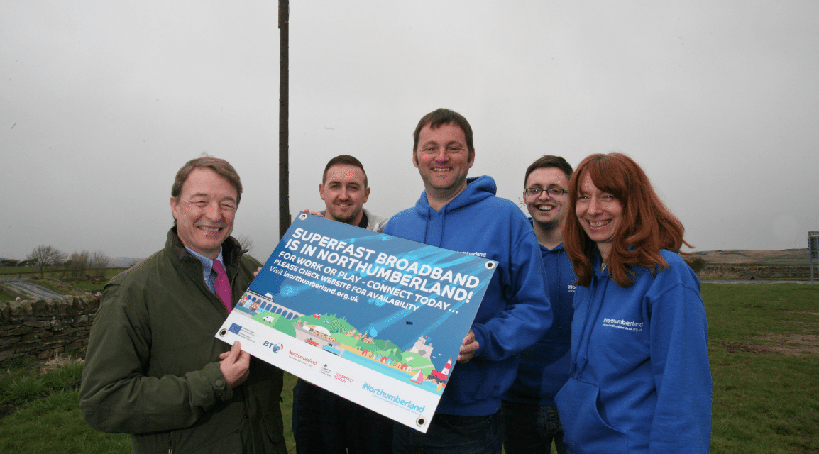 Remote Northumberland village is first in County to get pioneering new superfast broadband technology