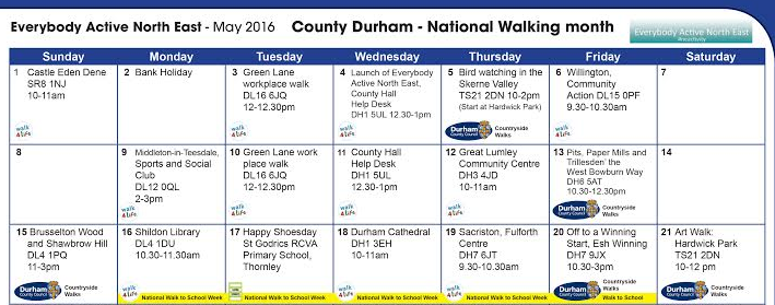 Get active with Durham County Council's month of walking