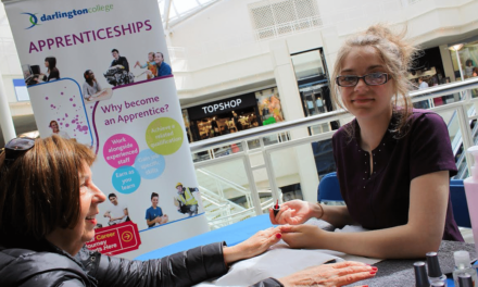 Pop up pamper salon gives students a taste of work life