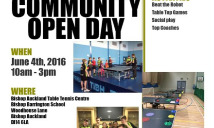 Community open Day at Bishop Auckland Table Tennis Club