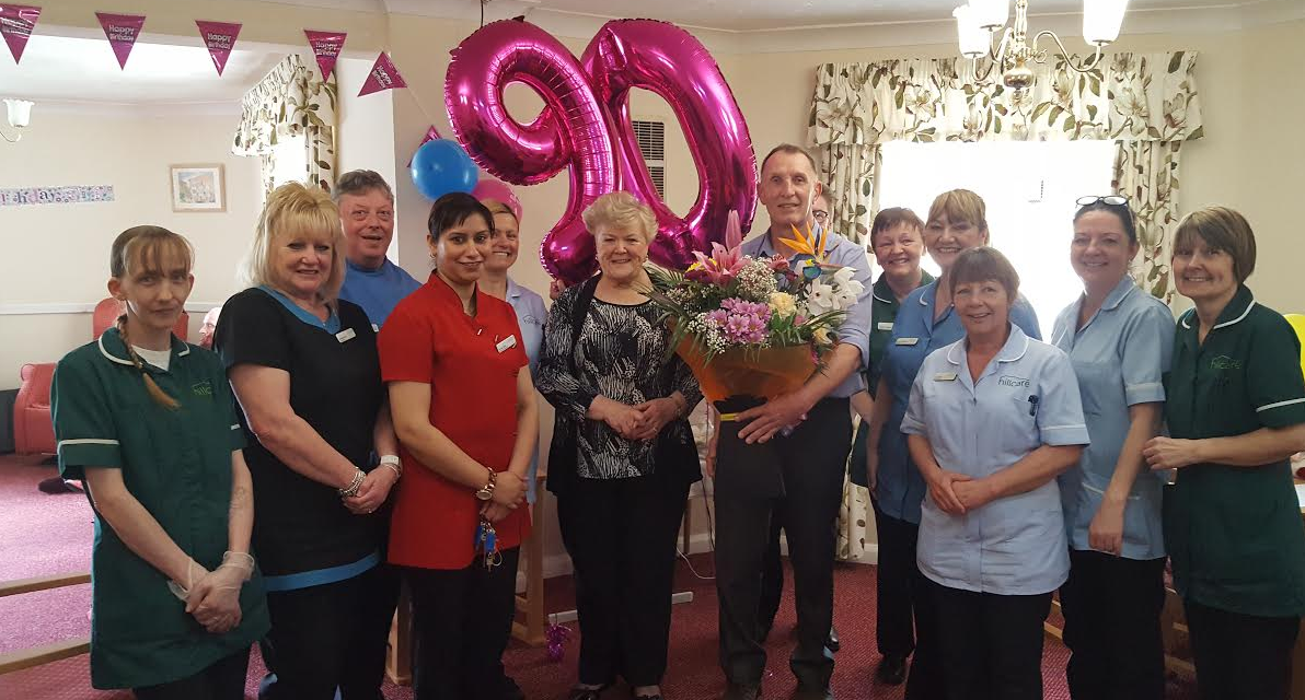 Care home volunteer gets surprise 90th birthday party