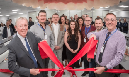 All smiles at opening state-of-the-art dental laboratory