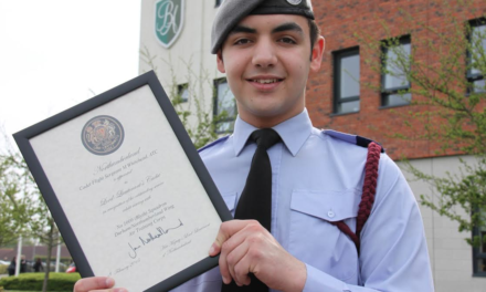 Cadet rewarded for service