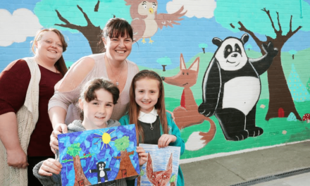 Community mural is a work of art