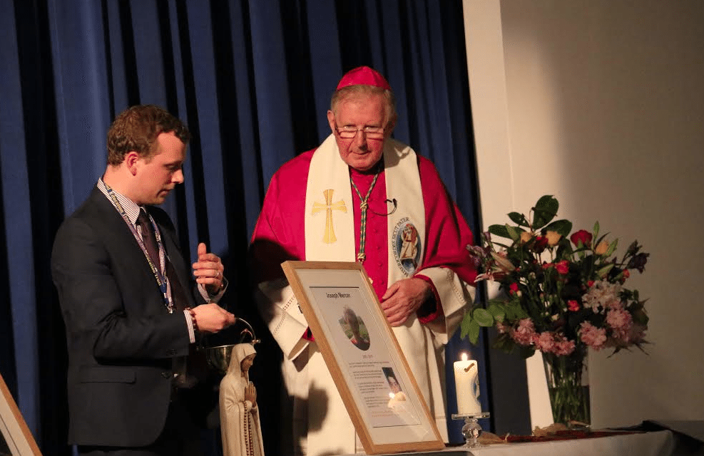 Bishop blesses new science block in memory of trio taken too young by cancer