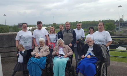 Elderly tackle 5k Tees Barrage walk for Dementia Awareness Week