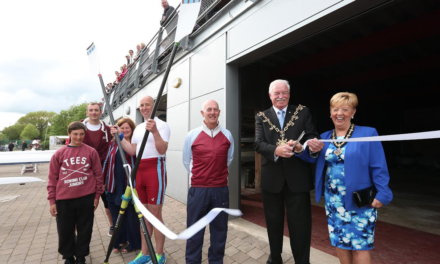 Stockton Mayor Opens Extended Rowing Centre