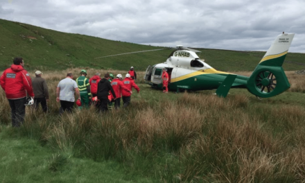 Two climbers airlifted from two different crags