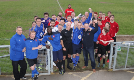 Staff beat students in college charity football match