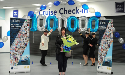 DFDS Celebrations with Millionth Mini Cruiser at the Port of Tyne