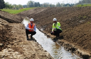 River diverted to reduce flood risk