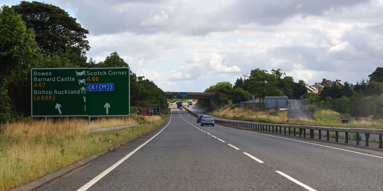 Improved road surface for drivers on the A66 in North Yorkshire
