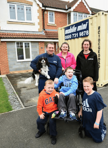 Mobile Mini's Storage Container Brings Joy to Houghton Le Spring Youngster