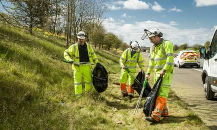 2,000 sacks of litter collected from the main roads in the North East