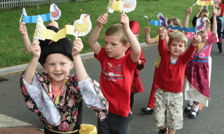 Stockton Borough School Children Celebrate International Day