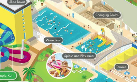 Illustrative map of UK's first Alpamare waterpark