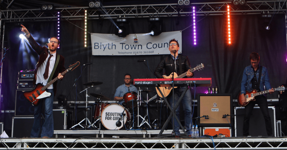 Scouting For Girls play to over 12,000 people at Northumberland Live, Blyth