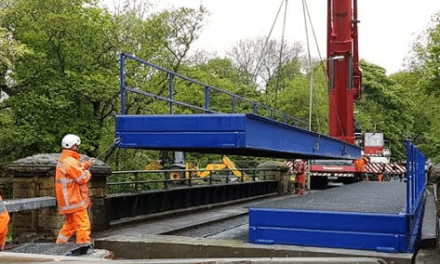Work to install temporary solution continues at  Deerness Bridge
