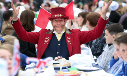 Stockton Flyer Delights Hundreds at Queen's 90th Celebration