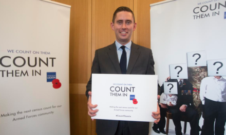 Tom Blenkinsop MP pledges his support for the Royal British Legion's 'Count Them In' Campaign
