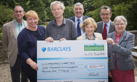 Three Richmondshire charities have benefitted to the tune of over £500