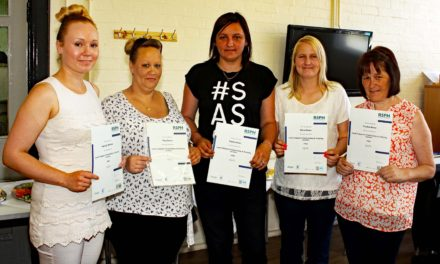Catering qualifications for local wellbeing group