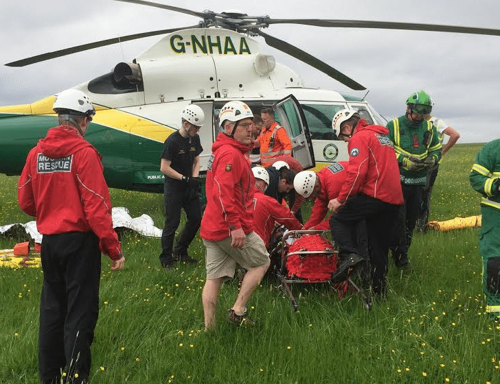 Mountain Rescue: Northumberland Waterfall Technical Rescue