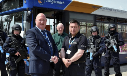 New Home For Retired Bus At Police Firearms Training Facility